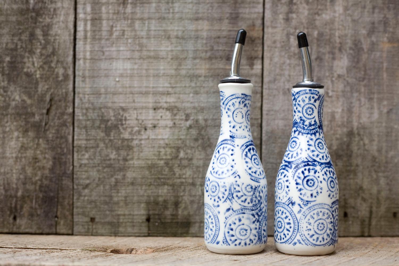 ceramic oil and vinegar bottles  nmtg  deliciously healthy meal  - ceramic oil and vinegar bottles